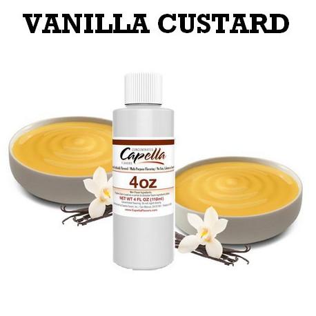 Arôme vanilla custard 4oz ( 118 ml )
