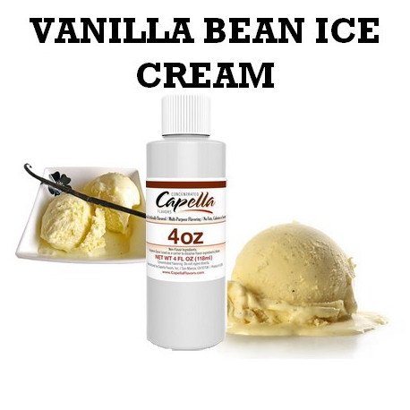 Arôme vanilla bean ice cream 4oz ( 118 ml )