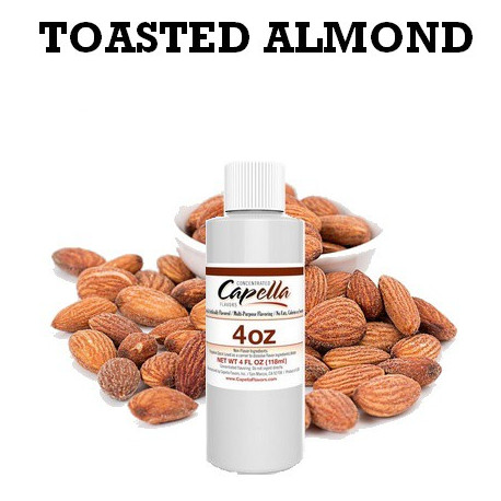 Arôme Toasted Almond 4oz ( 118 ml ) capella