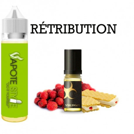Premix e-liquide retribution Virus vape 60 ml