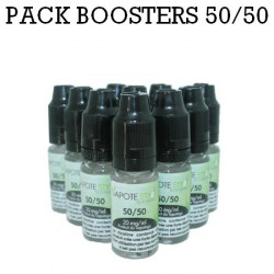 Pack de 10 Boosters nicotine Vapote Style 50/50