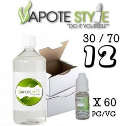 Base pack TPD 12 mg 1 litre 30/70  Vapote Style