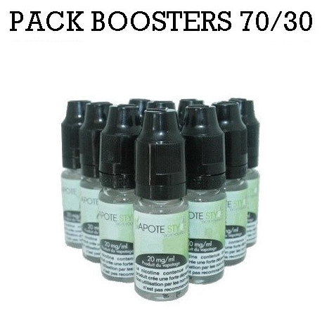 Pack de 10 Boosters nicotine Vapote Style 70/30