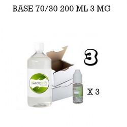 Base e-liquide 200 ML 70/30 3MG - Vapote Style