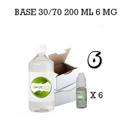 Pack 200 ML 30/70 6MG - Vapote Style