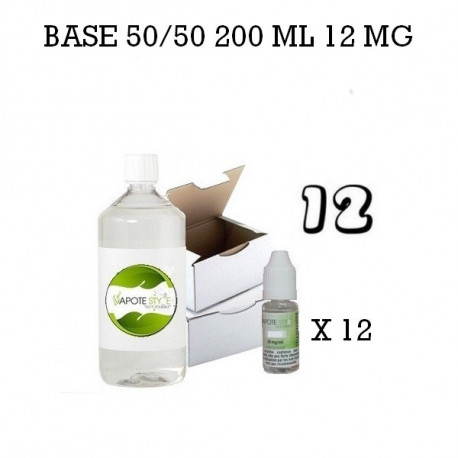 Pack 200 ML 50/50 12MG - Vapote Style