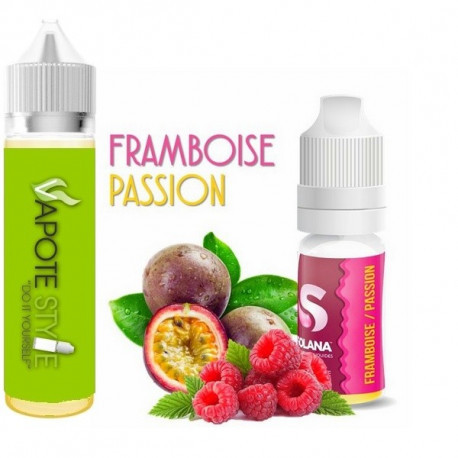 Premix e-liquide Framboise Passion Solana 60 ml