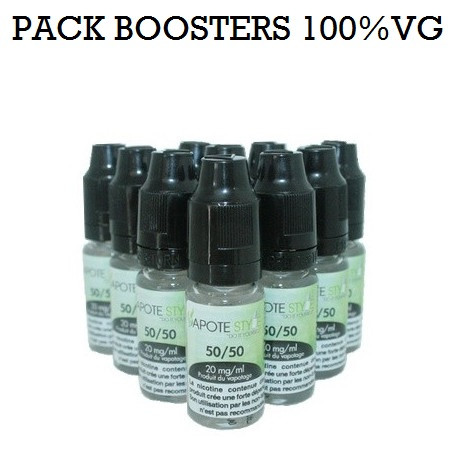 Pack de 10 Boosters nicotine Vapote Style 100% VG