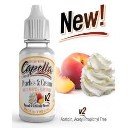 Arôme Peaches and Cream v2 Flavor 10 ml - Capella