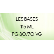 Bases 30/70 e-liquide nicotiné en 115 ml | Vapote Style