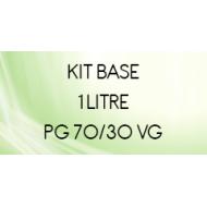 Base 70/30 1 litre prête à l'emploi avec nicotine 3, 6,12 mg