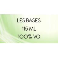 Les bases pour e-liquide Vapote Style 100% VG en 115 ml