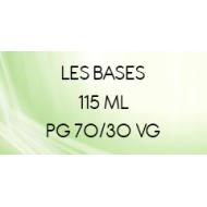 Base 70/30 sans nicotine pour liquide DIY en 115 ml