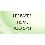 Base 100% PG pour e-liquide sans nicotine au format 115 ml