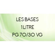 Base sans nicotine 70/30 pour e liquide DIY 1 Litre