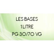 Base 30/70 en 1 Litre Vape or DI, Mix & Go, et Vapote Style