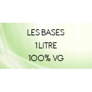 Base 1 Litre 100% VG sans nicotine pour liquide DIY