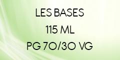 BASES E-LIQUIDES 70/30 EN 115ML