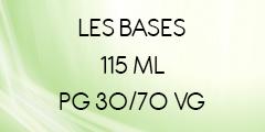BASES E-LIQUIDES 30/70 EN 115ML