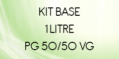 Kit base 1 litre 50/50 POUR E-LIQUIDE DIY