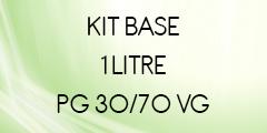 Kit base 1 litre 30/70 POUR E-LIQUIDE DIY