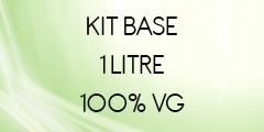 Kit base 1 litre 100% VG POUR E-LIQUIDE DIY