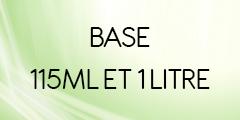 Base 115 ml et 1 litre
