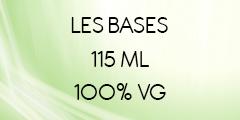 BASE E-LIQUIDE 100% VG FORMAT 115 ML