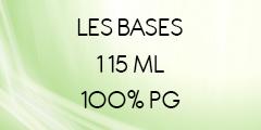 BASE 100% PG SANS NICOTINE EN 115 ML