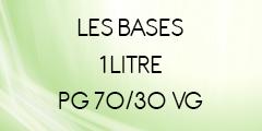 BASE SANS NICOTINE 70/30 1 LITRE POUR E-LIQUIDE DIY