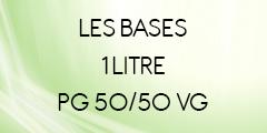 BASE SANS NICOTINE 50/50 1 LITRE POUR E-LIQUIDE DIY
