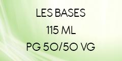 BASES E-LIQUIDES 50/50 EN 115 ML